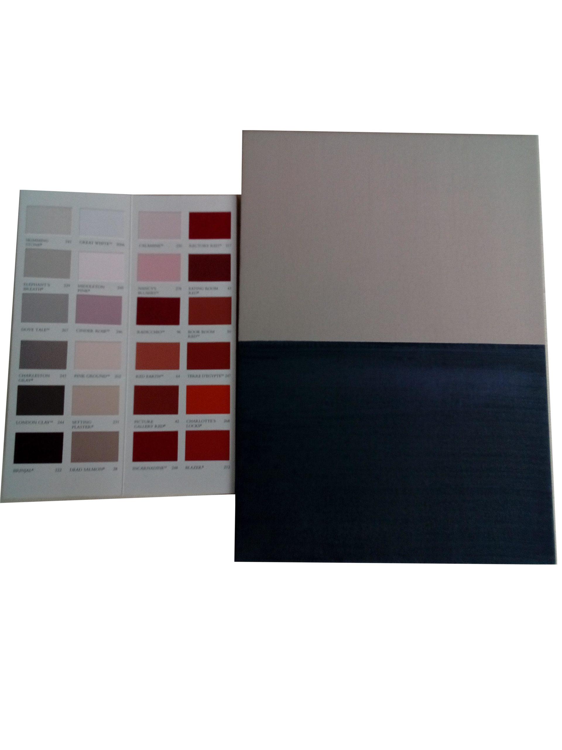 Nuancier - échantillons de couleur