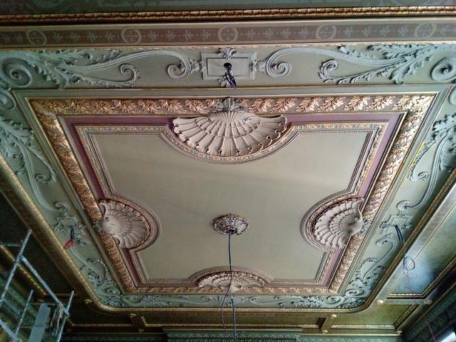 Palais des arts - Marseille - Réfection des plafonds à la française et décors peints style empire XIXe