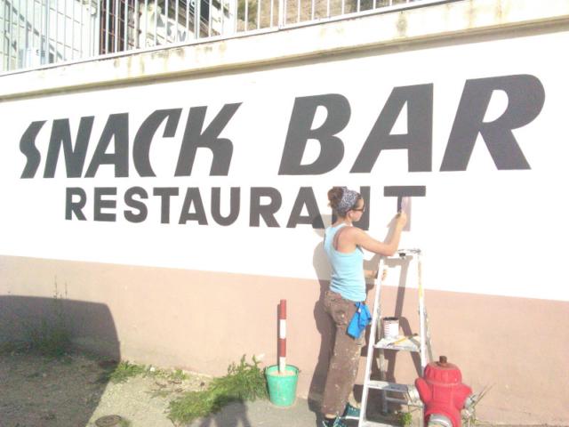 Décoration peinture - devanture de magasin - enseigne peinte - lettrage