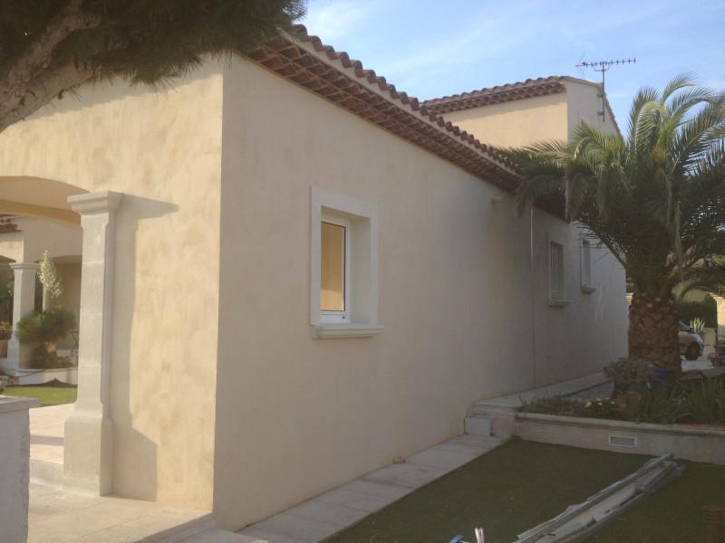 Décoration peinture - Enduits muraux - Façade de maison provençale