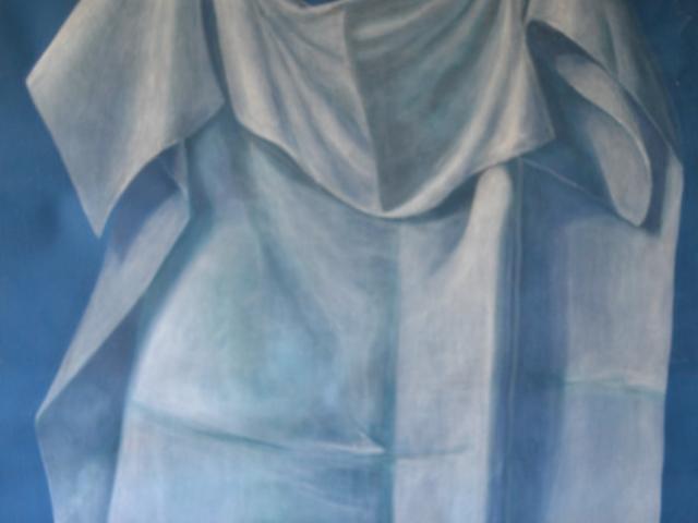 Drapé - Peinture à la caséine