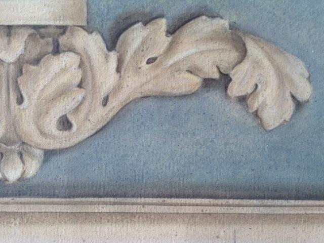 Ornement en grisaille - Peinture à la caséine
