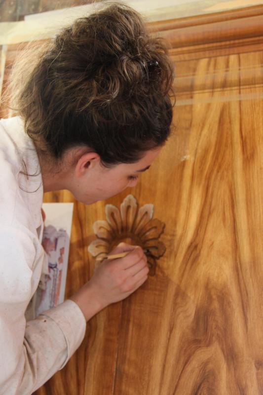 Faux bois - Peinture à l'huile