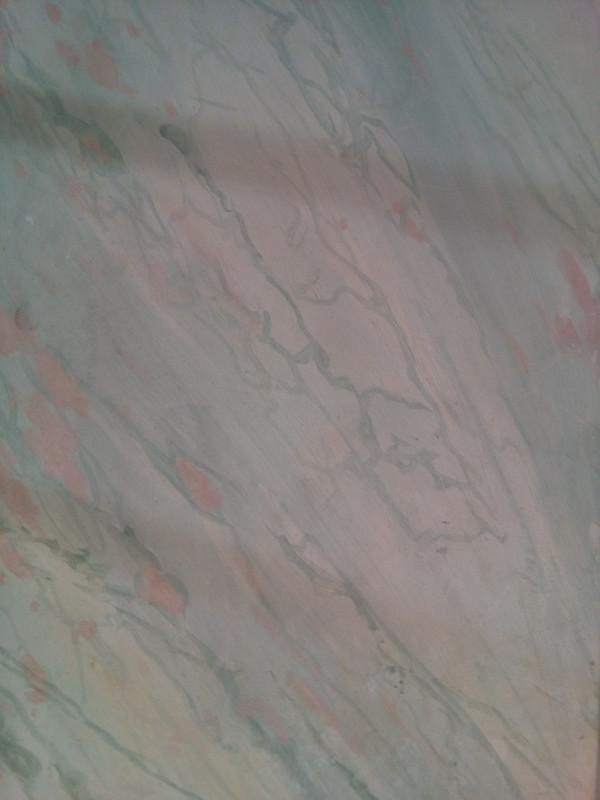Faux marbre archaïque - Peinture à la chaux
