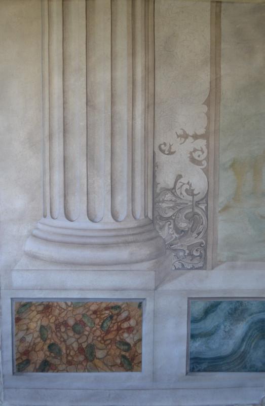 Trompe l'oeil architectural - Peinture à la caséine