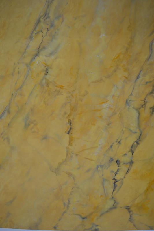 Faux marbre - Jaune de sienne - Peinture à l'huile