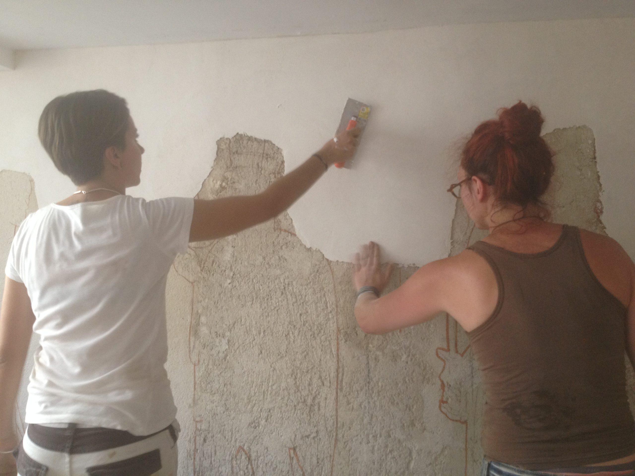 Fresque (a fresco) - préparation des enduits
