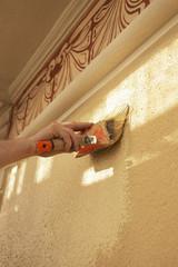 Décoration peinture murale - Badigeon à la chaux