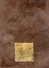 Enduit décoratif mural - Stuc feuille d'or